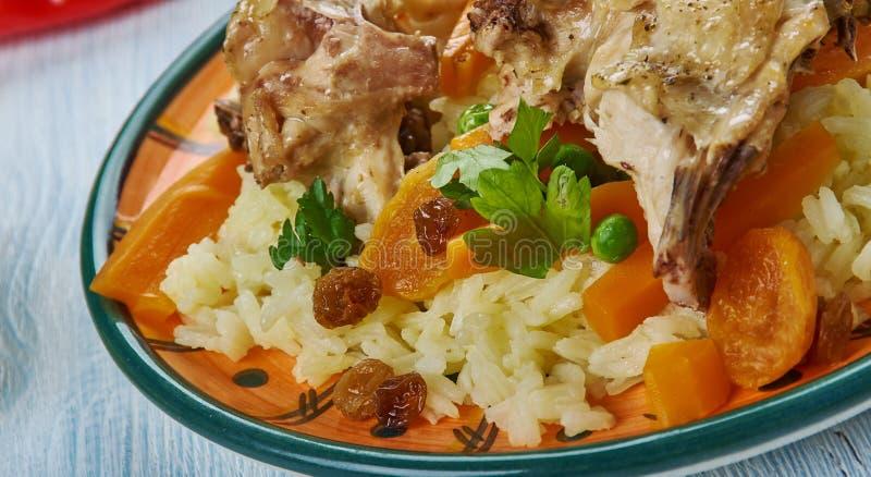 Iraqi Biryani Rice. IraqiBiryani Rice , Asia Traditional assorted dishes, Top view royalty free stock images