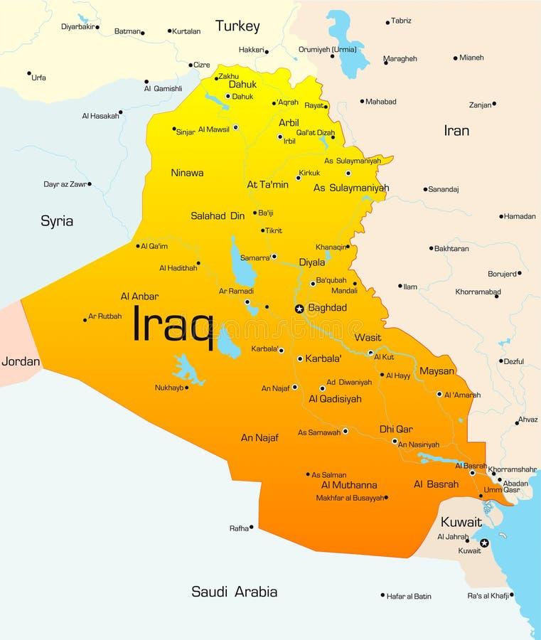 Iraque ilustração royalty free