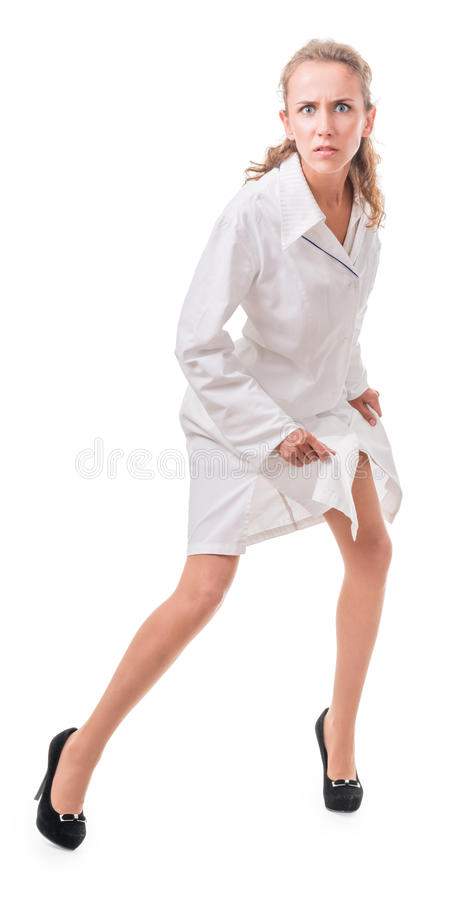 Download Irate doctor stock image. Image of nurse, coat, healthcare - 26485559