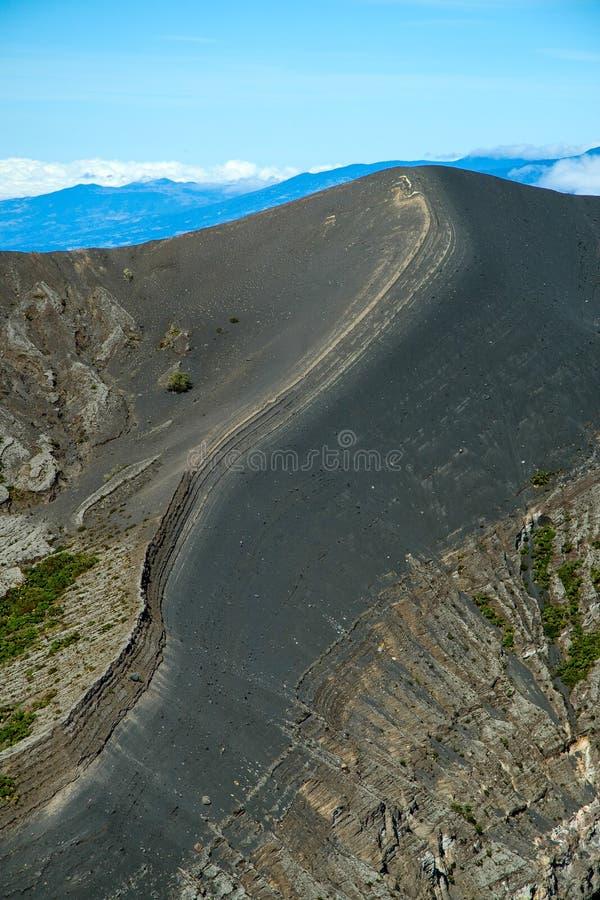 Irazu vulkan royaltyfria foton