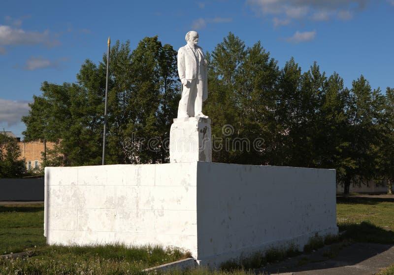 IRBIT RYSSLAND - MAJ 20, 2016: Foto av den Lenin monumentet royaltyfri bild