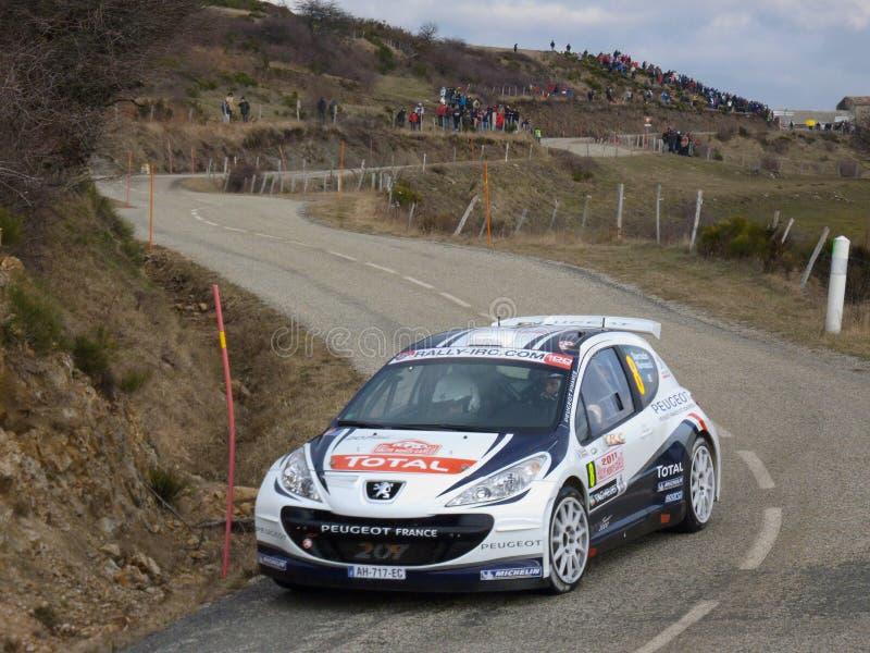IRC 2011 - SARRAZIN/RENUCCI - Peugeot 207 S2000 stockfotos