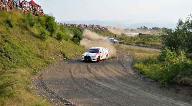 IRC RALLY SIBIU SSS12 SUPERSPECIAL Editorial Stock Image