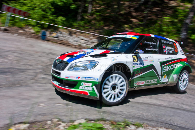 Download IRC Yalta Prime Rally 2011 editorial photo. Image of drag - 19822386