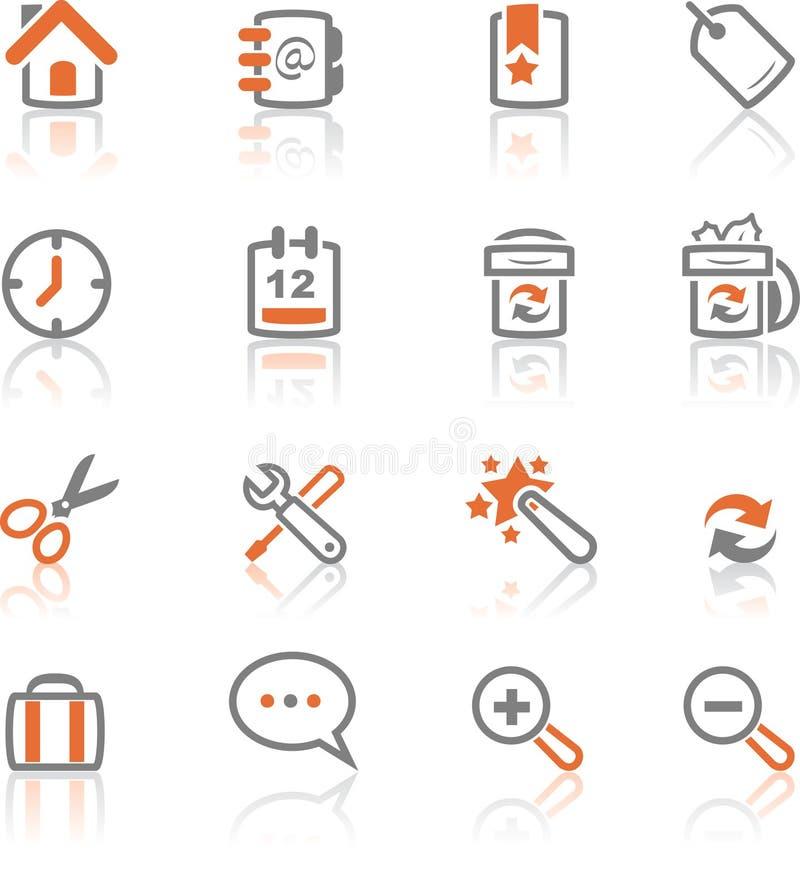 Ireflect fijó 1 - los iconos del Web y del Internet ilustración del vector