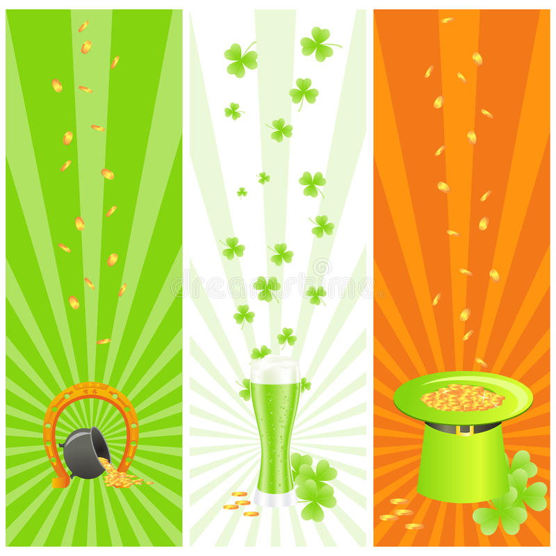 Download Ireland Banners With St. Patrick Day's Symbols Stock Photos - Image: 18440323