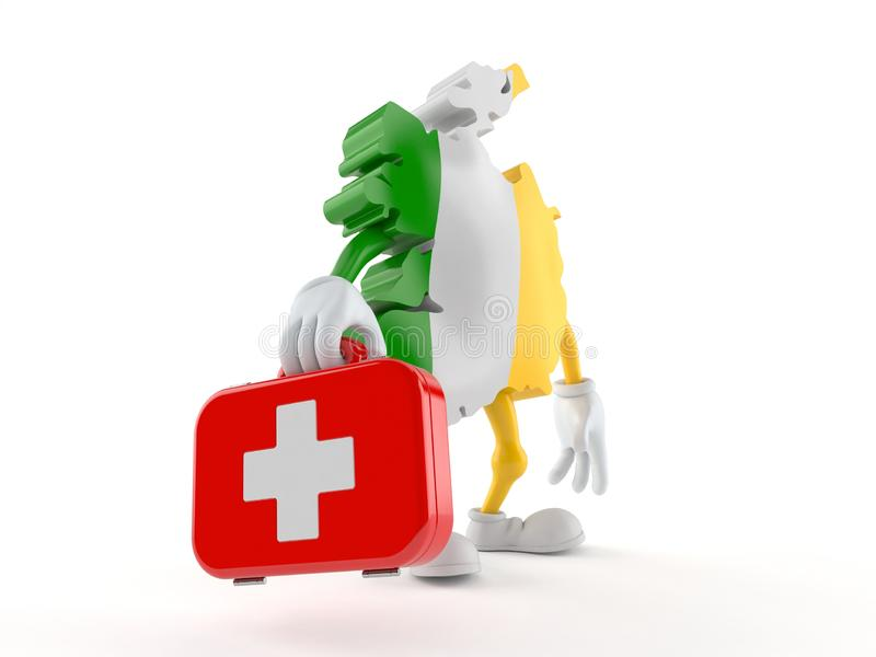 Ireland character holding first aid kit royalty free illustration