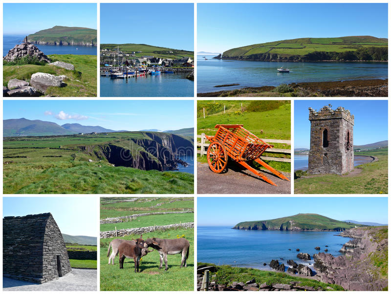 Ireland Collage. A collage of photographs taken on the Dingle Peninsula in Ireland royalty free stock image