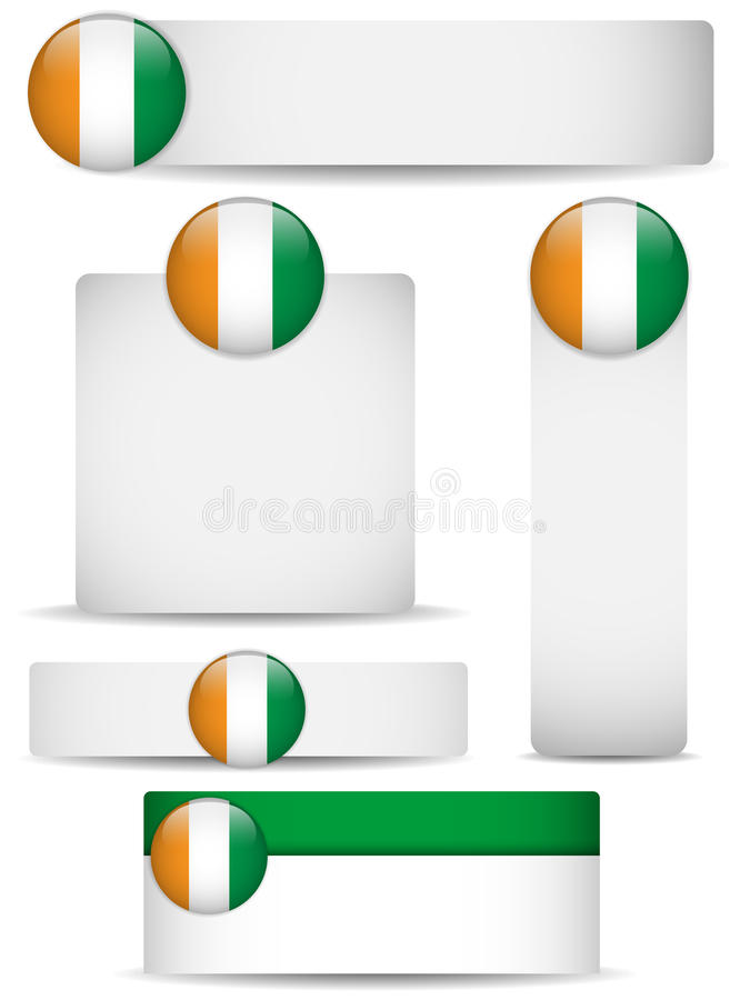 Download Ireland Country Set Of Banners Stock Vector - Image: 24862651