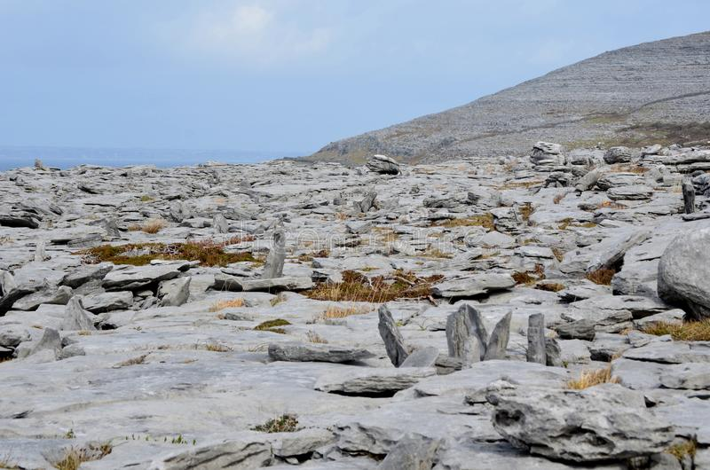 Ireland countryside in Burren with great stones royalty free stock images