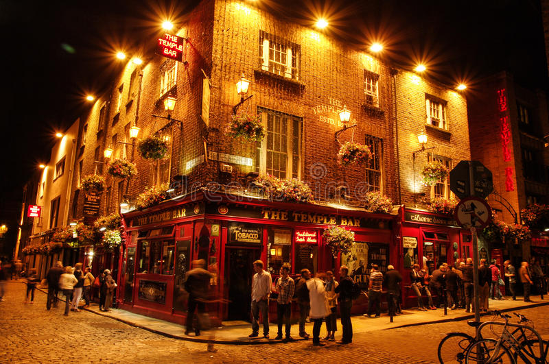 Ireland. Dublin. Temple Bar stock photo
