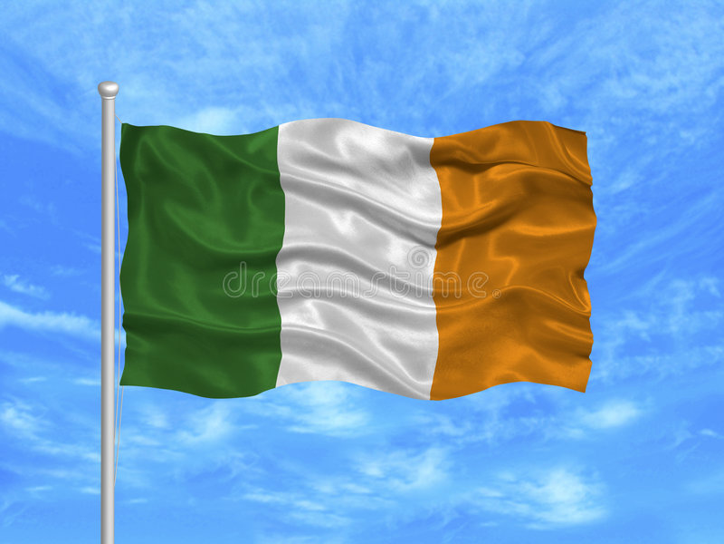 Ireland Flag 1 vector illustration