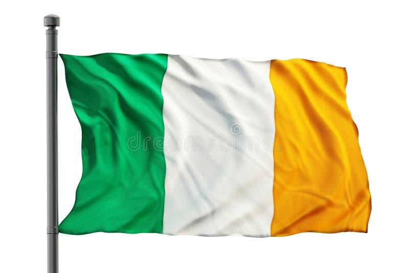 Ireland flag. Isolated on white background royalty free stock images