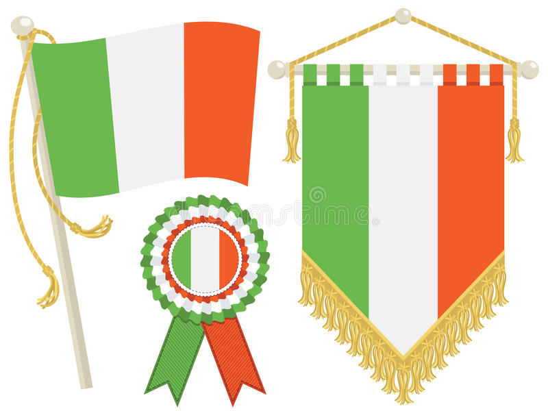 Download Ireland flags stock vector. Image of clip, pole, design - 25602967