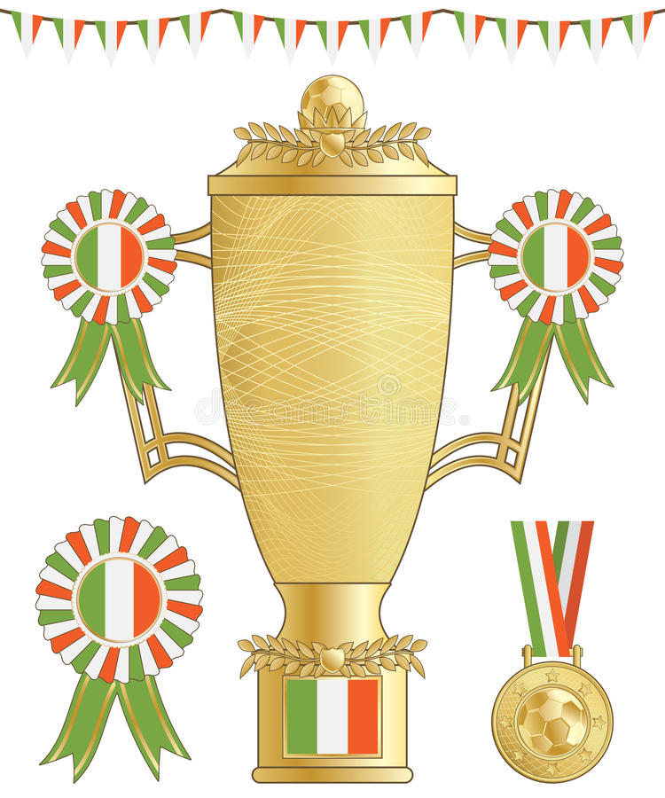 Download Ireland football trophy stock vector. Illustration of football - 24734223