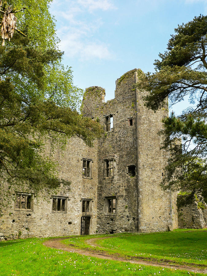 Ireland. Mallow - Mala. The ruins of the Old Mallow Castle, near the River Blackwater royalty free stock images