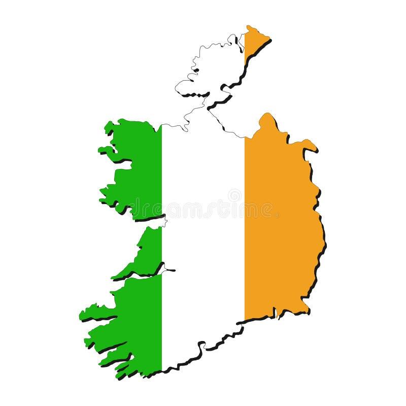 Ireland map flag royalty free illustration