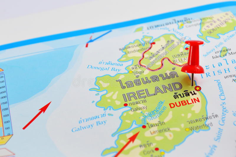 Ireland map stock image image of travel details illuminate 45142875 macro shot of ireland map with push pin gumiabroncs Gallery