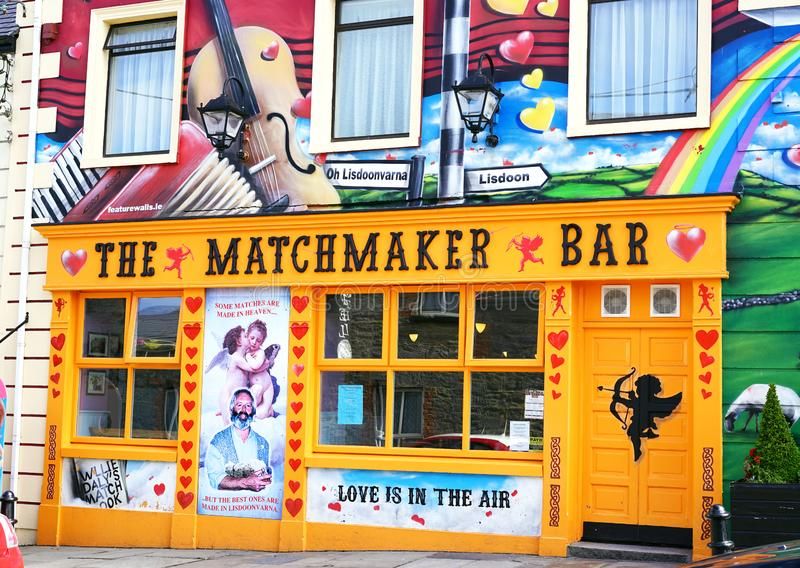 Ireland`s annual matchmaking festival. Every September in the small village of Lisdoonvarna on Ireland's Wild Atlantic Way hosts a month long Irish royalty free stock photo