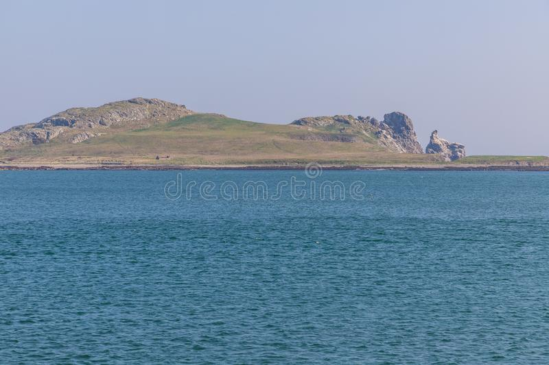 Ireland`s Eye Island taken from Howth stock images