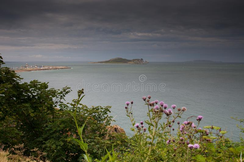 Ireland`s Eye Island taken from Howth, Dublin, Ireland. Ireland`s Eye Island taken from Howth, Howth, Dublin, Ireland royalty free stock image