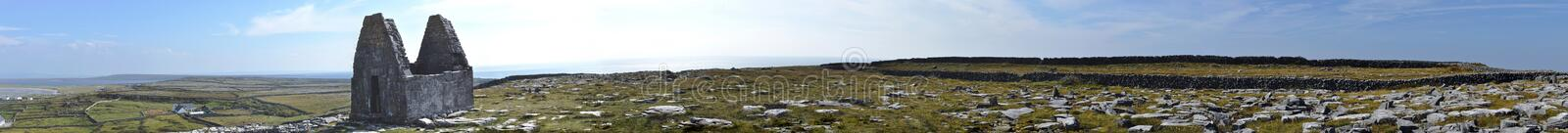Ireland smallest church in the world panorama royalty free stock images