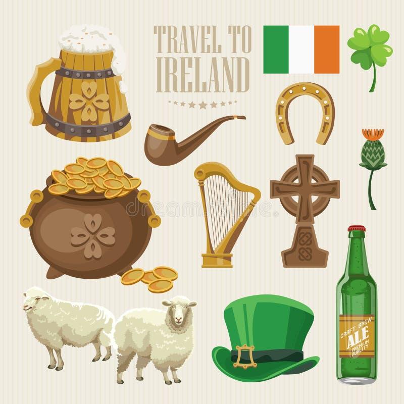 download ireland vector large flat design set with landmarks irish castle green fields