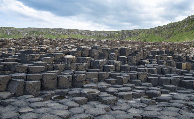 Irelands skalisty Gigantyczny drogi na grobli fotografia royalty free