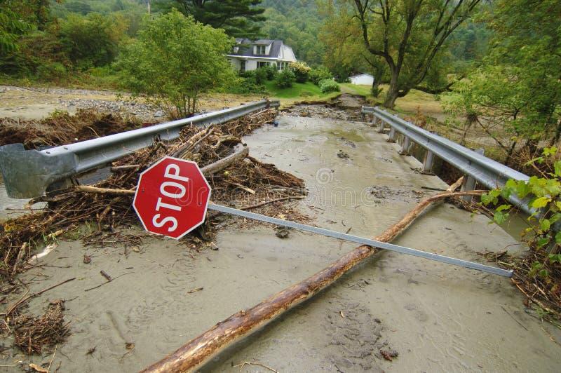 Irene Damage Near Tunbridge Vermont stock foto