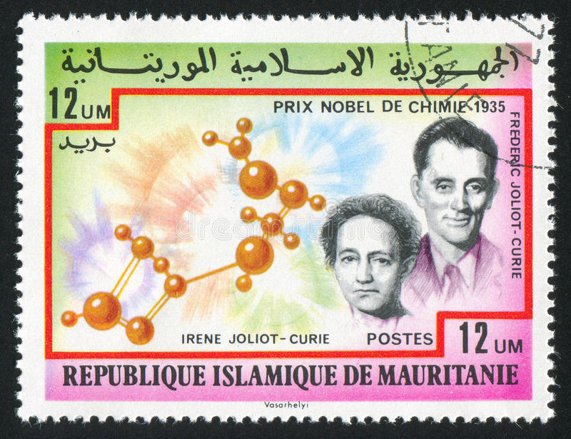 Irene and Frederic Joliot-Curie royalty free stock images