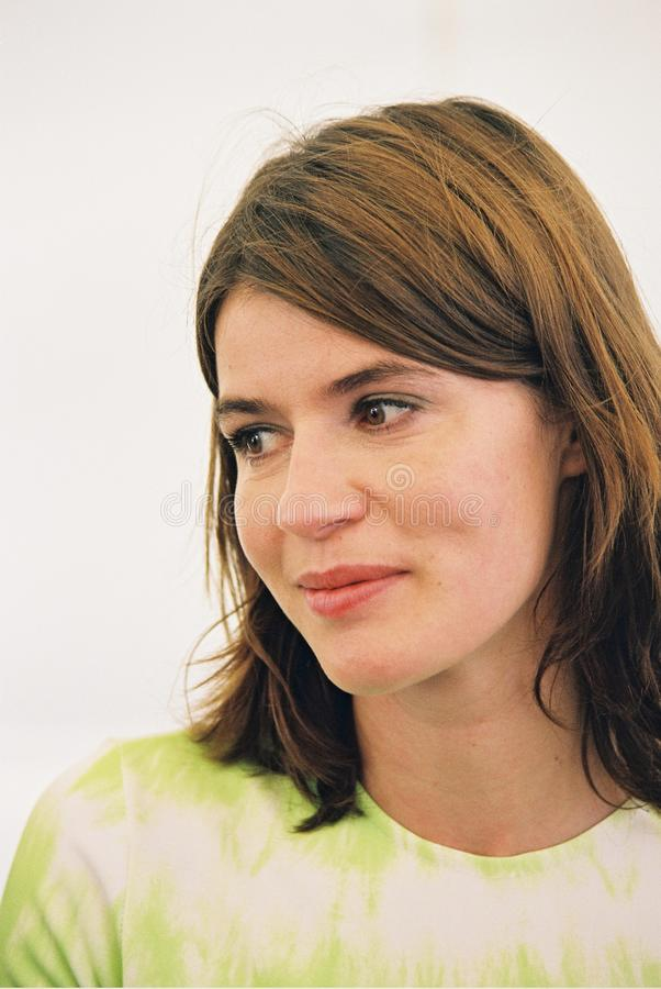 Irene Jacob. CANNES, FRANCE - MAY 16: Irene Jacob attends a screening of Affaire Marcorelle the 53th International Film Festival May 16, 2000 in Cannes, France royalty free stock photo