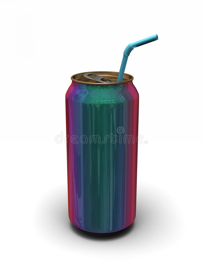 Download Iridescent can of soda stock illustration. Illustration of open - 23973741