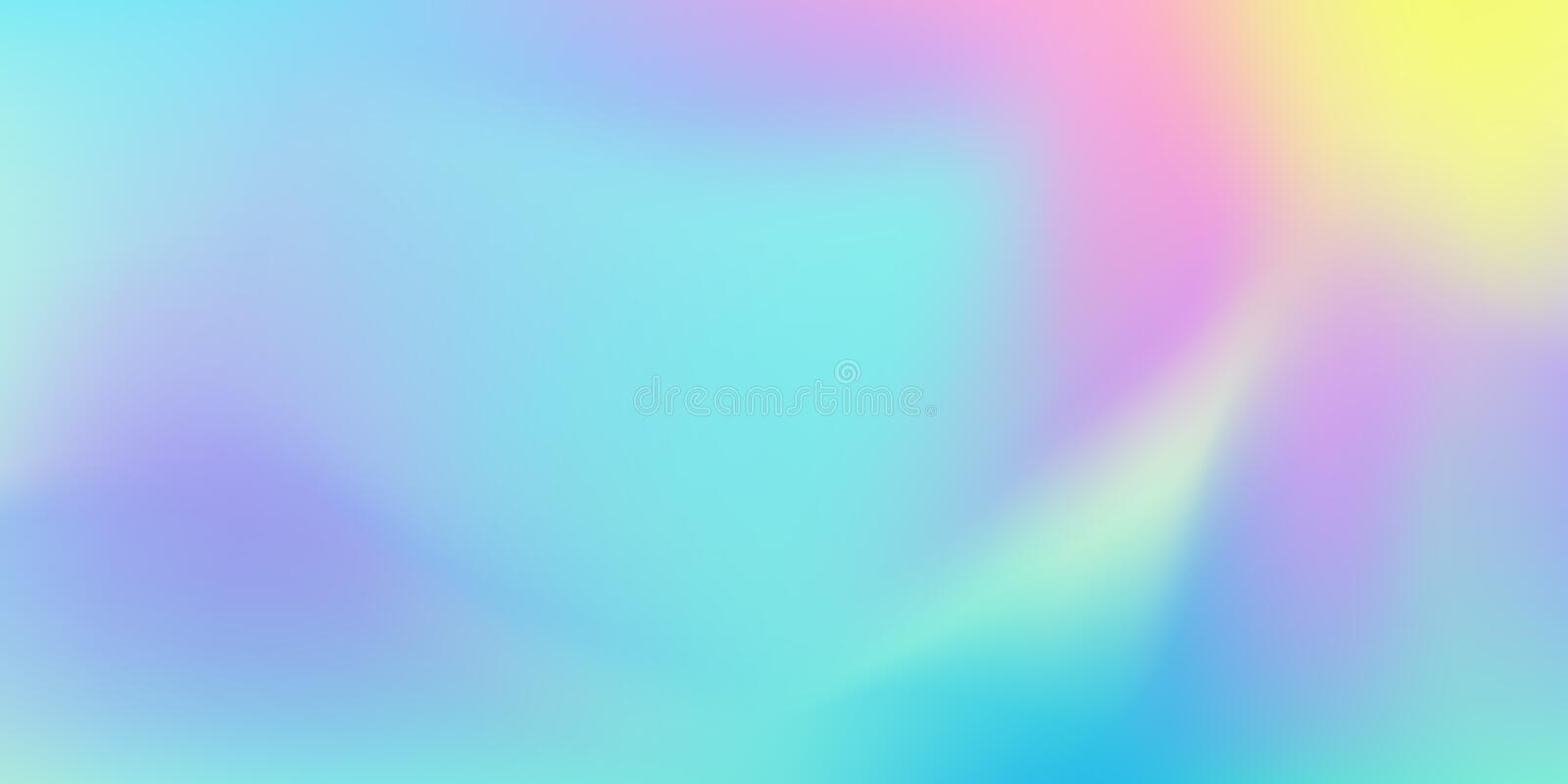 Iridescent color blend background, abstract liquid pattern. Vector holographic colors gradient blend background royalty free illustration