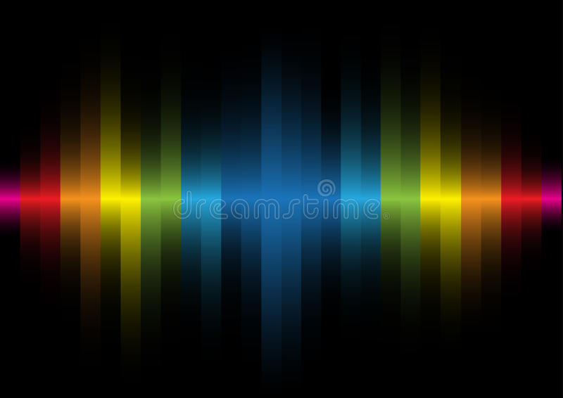 Iridescent Light On A Black Background Royalty Free Stock Image