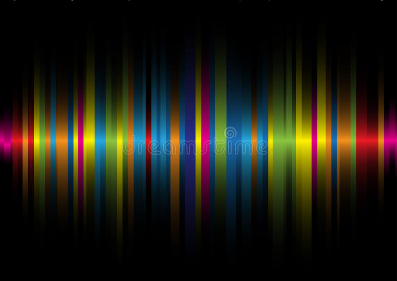 Iridescent light on a black background2 vector illustration
