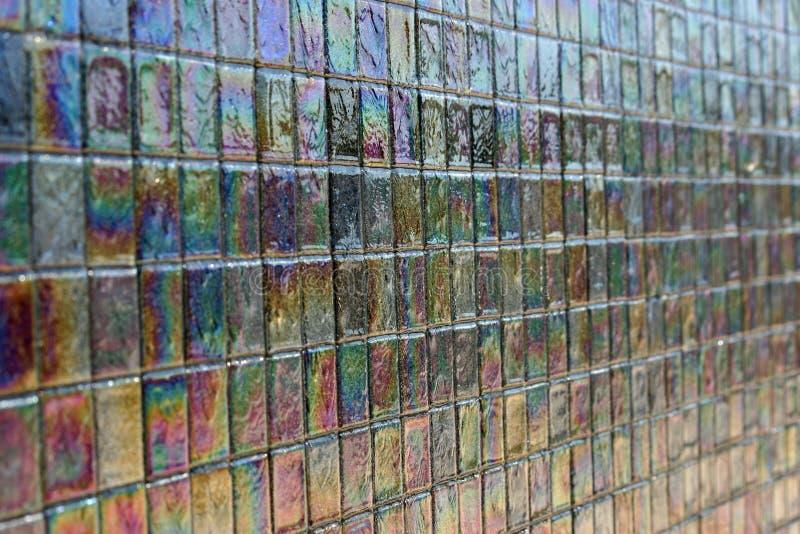 Iridescent tile 2 stock photo