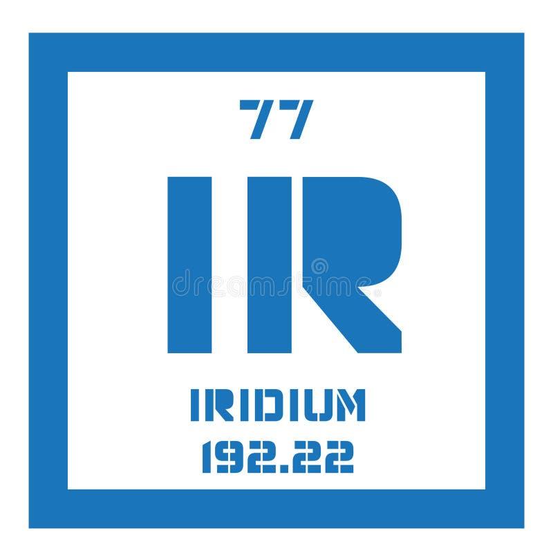 Iridium chemisch element royalty-vrije illustratie