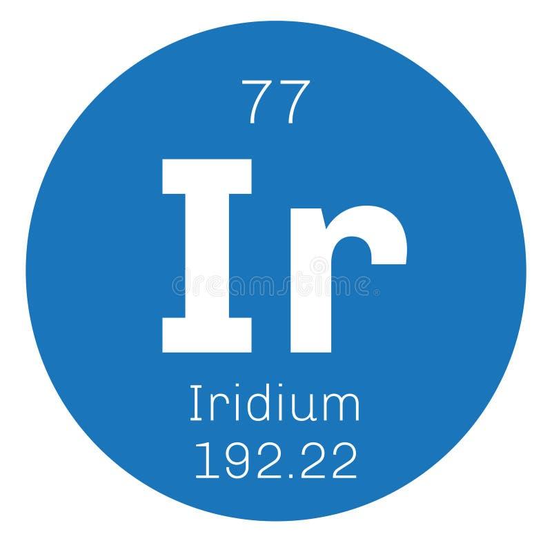 Iridium chemisch element stock illustratie