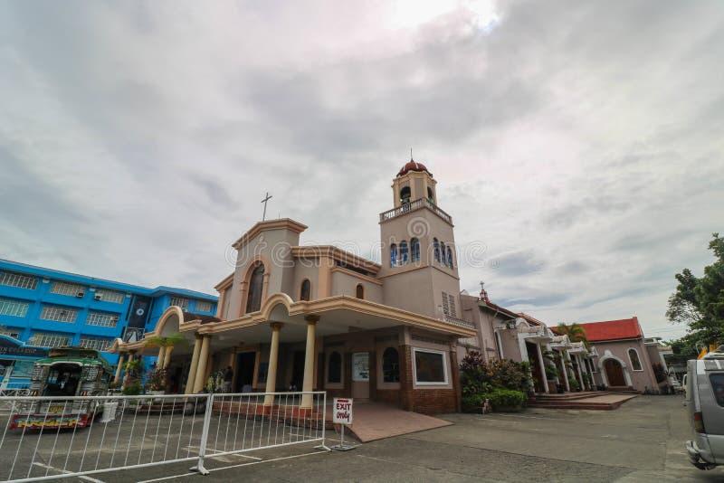 Church in Iriga Philippines. IRIGA CITY, CAMARINES SUR / PHILIPPINES - DECEMBER 22, 2018: St. Anthony of Padua Parish Church in Iriga City, Camarines Sur royalty free stock photo