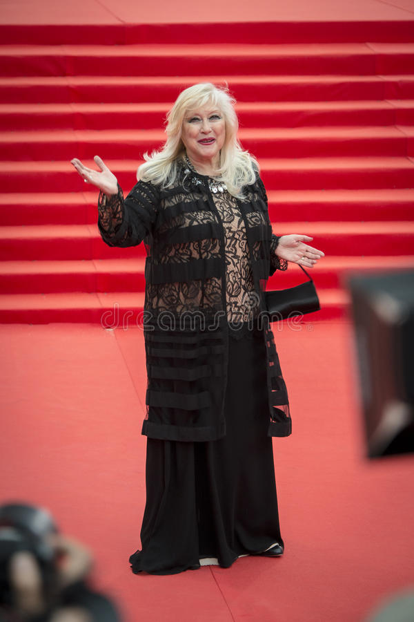 Irina Miroshnichenko on the red carpet 37 Moscow International film Festival stock images
