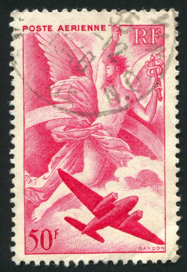 Iris και αεροπλάνο στοκ εικόνα