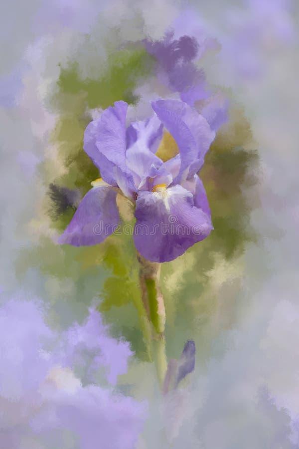 Iris abstrait avec l'effet painterly photos stock