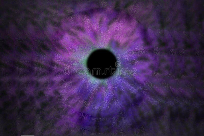 Iris Background - Galaxie-Kosmos-Art, Universum-astronomische Tapete mit blauem Türkis stardust stockbild