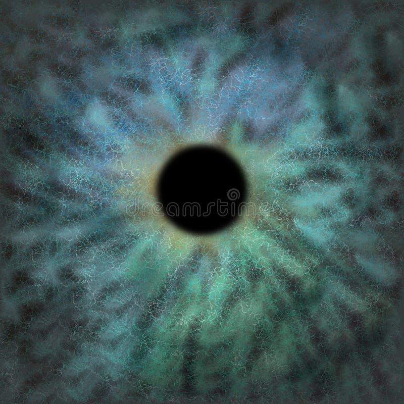Iris Background - Galaxie-Kosmos-Art, Universum-astronomische Tapete mit grünem Türkis stardust lizenzfreie stockfotografie