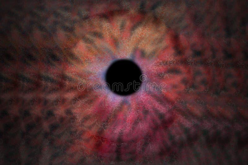 Iris Background - Galaxie-Kosmos-Art, Universum-astronomische Tapete mit rosa, rotem und orange stardust stockbild