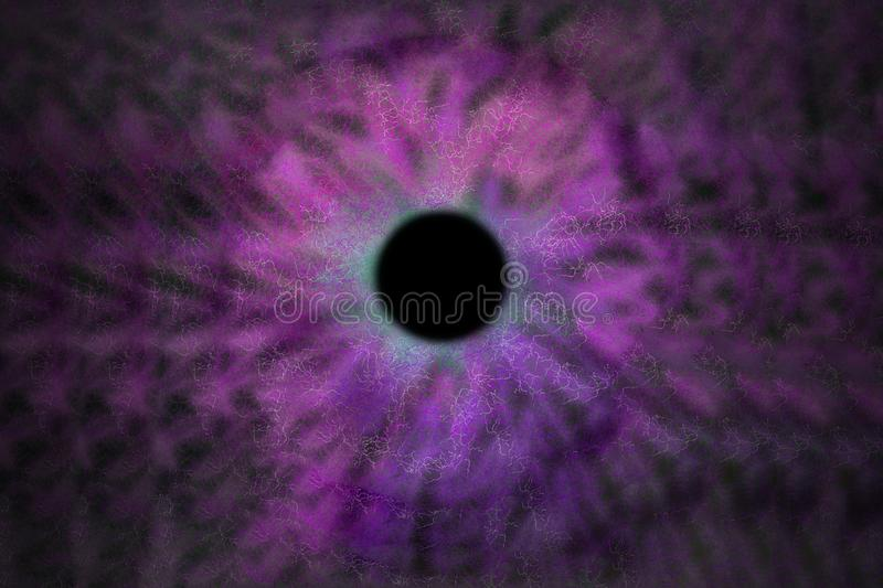 Iris Background - Galaxy Cosmos Style, Universe Astronomic Wallpaper with purple violet stardust vector illustration