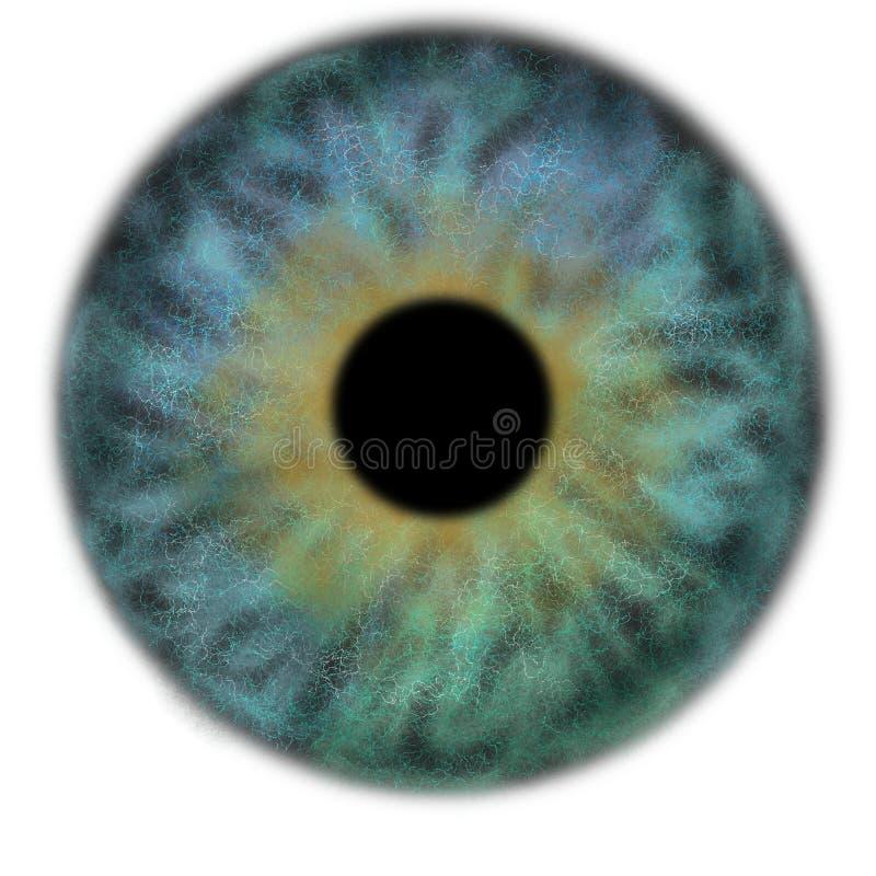 Iris Background - Planet in der Galaxie-Kosmos-Art, Universum-astronomische Tapete mit blauem Türkis stardust lizenzfreies stockfoto