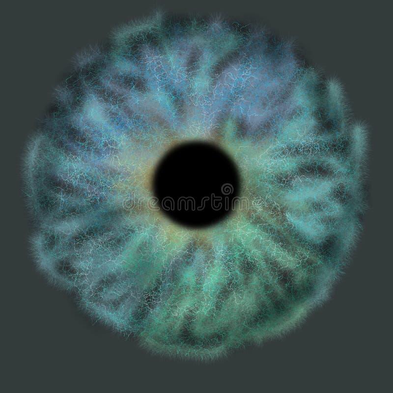 Iris Background - Planet in der Galaxie-Kosmos-Art, Universum-astronomische Tapete mit blauem Türkis stardust lizenzfreie stockfotografie