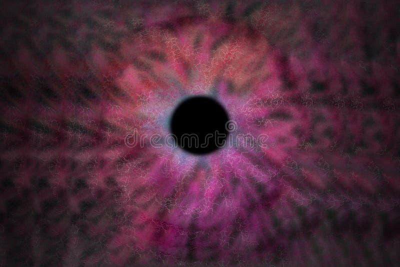 Iris Background - style de cosmos de galaxie, papier peint astronomique d'univers avec des chimères roses illustration stock