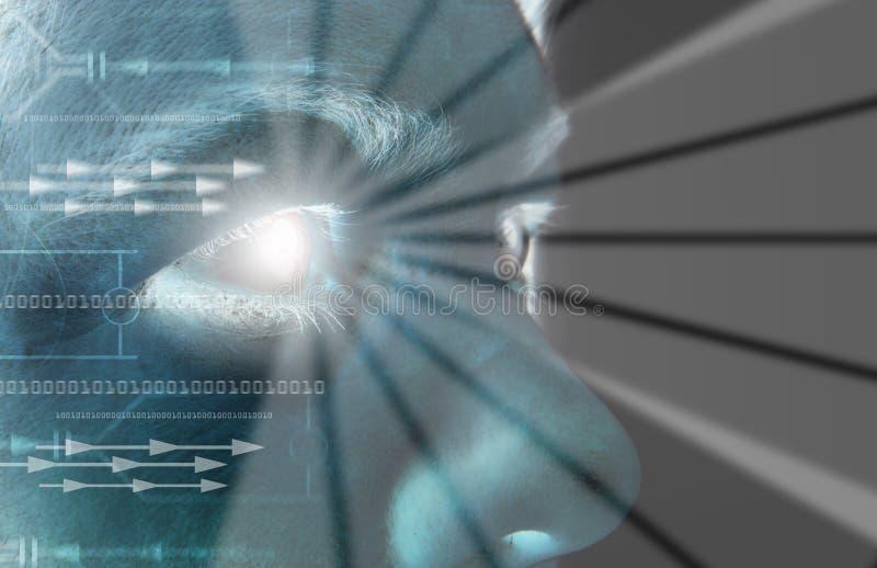Iris de balayage d'oeil biométrique image libre de droits